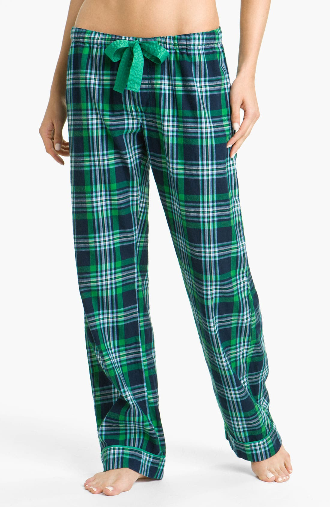 Alternate Image 1 Selected - PJ Salvage 'Emerald City' Plaid Lounge Pants