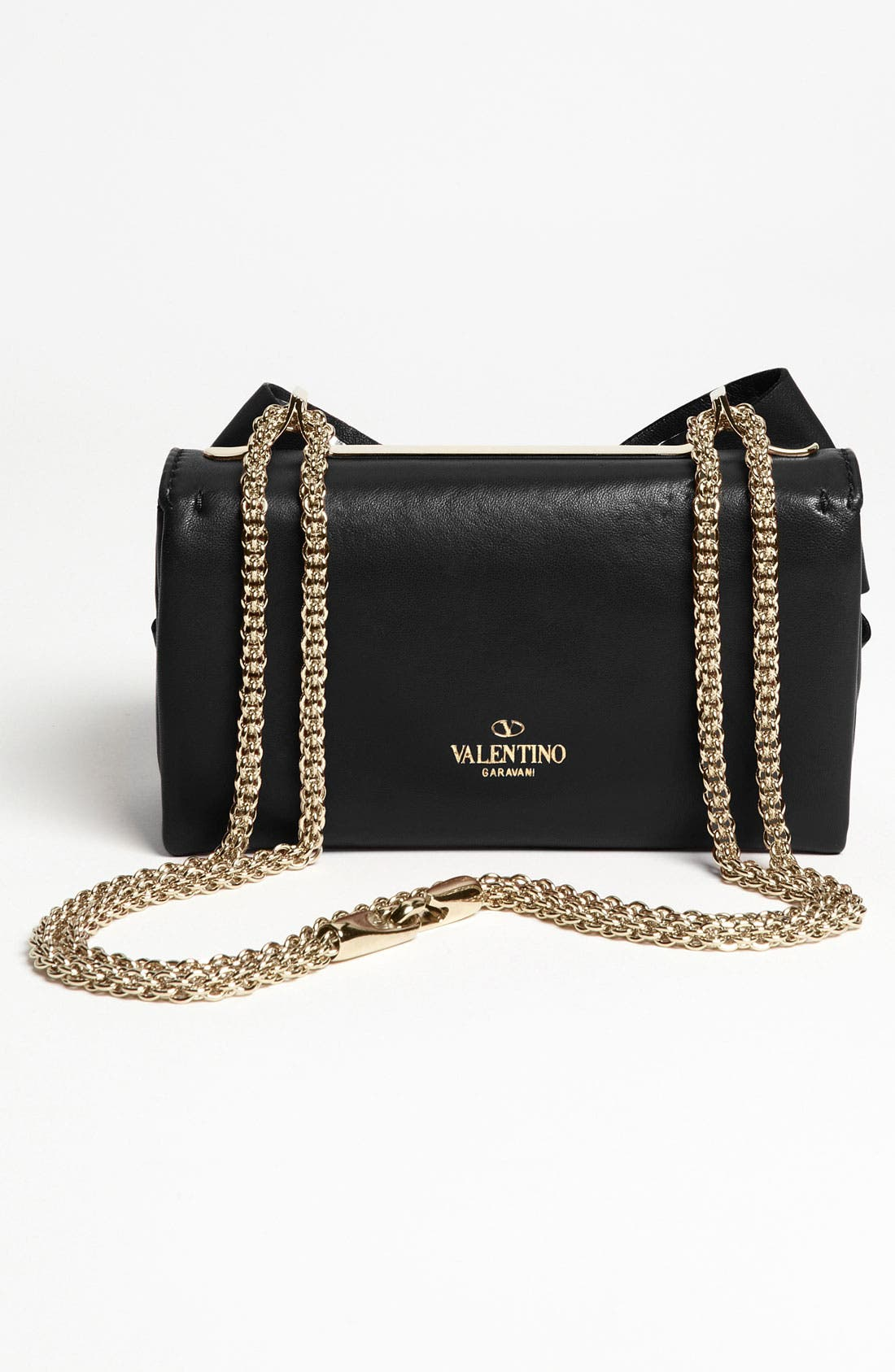 Alternate Image 4  - Valentino 'Bow - Mini' Leather Shoulder Bag