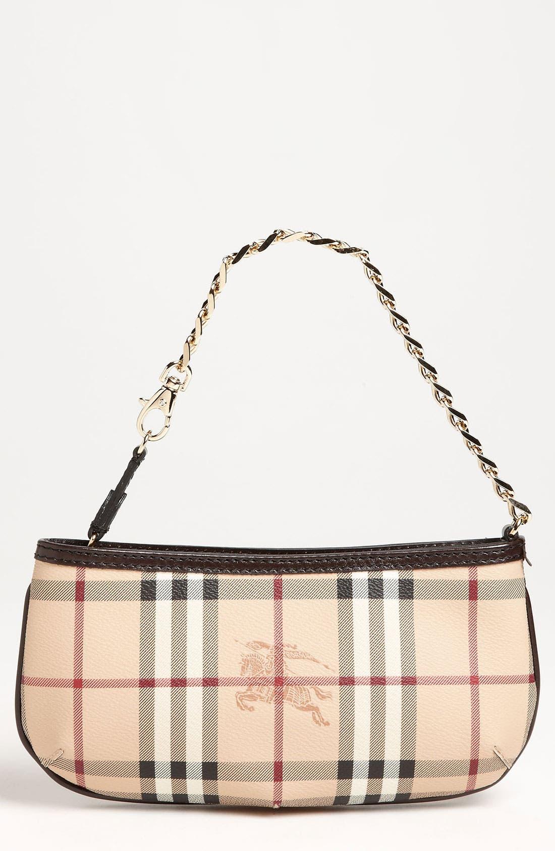 Alternate Image 1 Selected - Burberry 'Haymarket Check' Mini Shoulder Bag