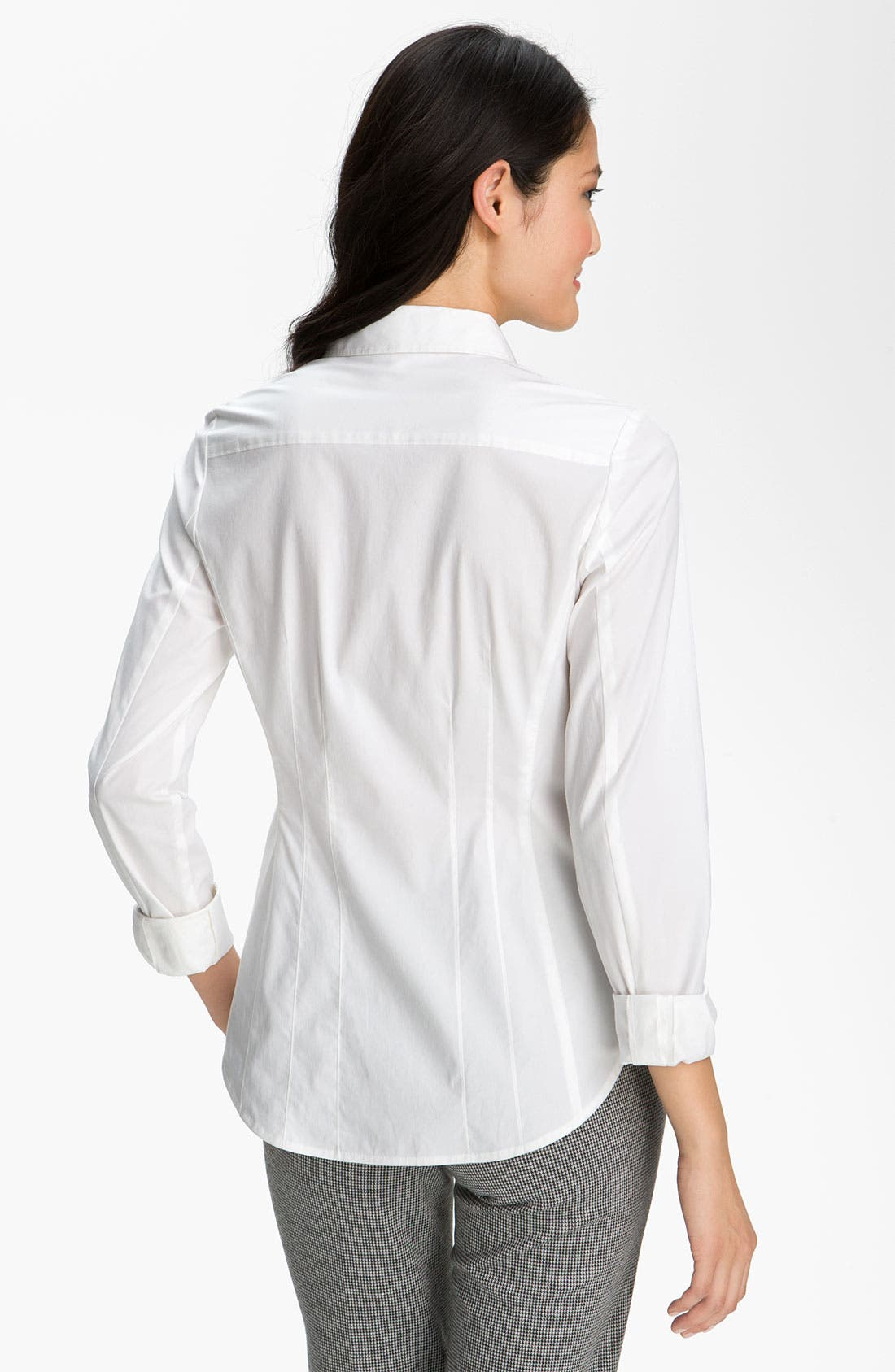 Alternate Image 2  - Halogen® Stretch Cotton Shirt