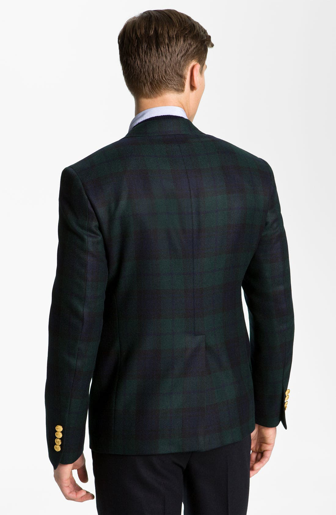 Alternate Image 2  - Brooks Brothers by Jeffrey Plaid Cashmere Blazer