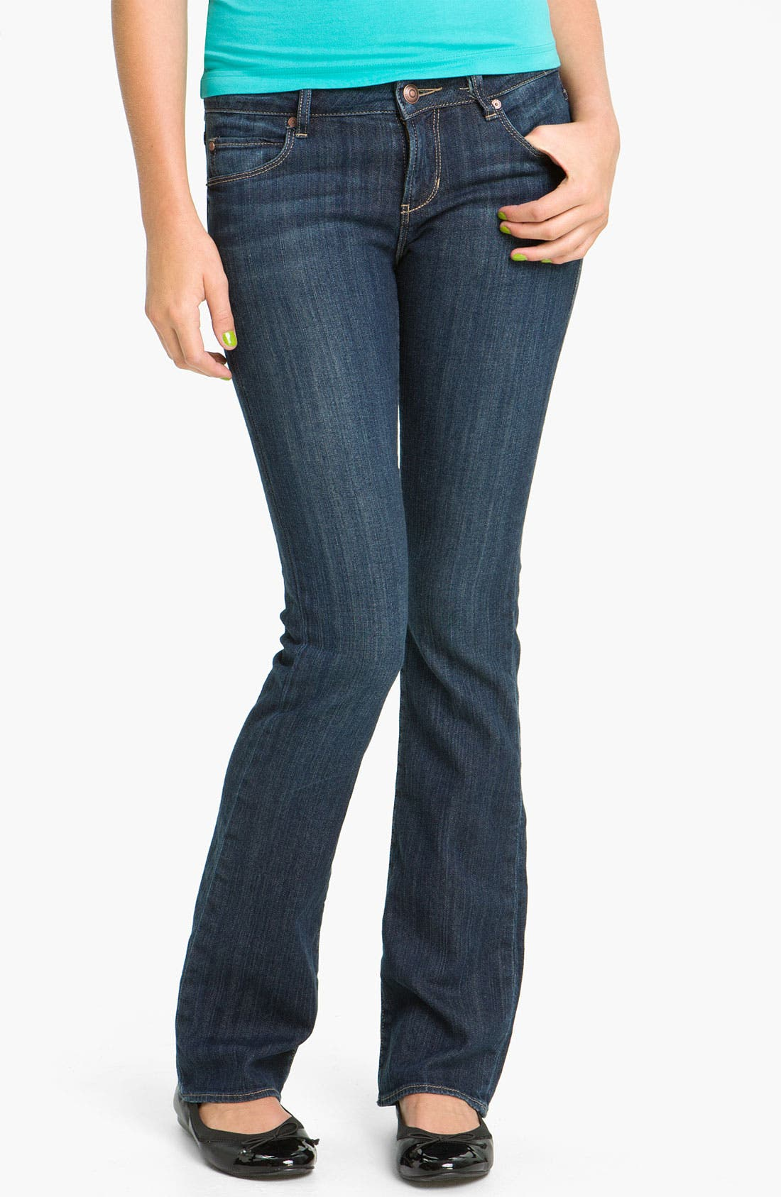Alternate Image 2  - Articles of Society 'Kendra' Bootcut Jeans (Topaz) (Juniors)