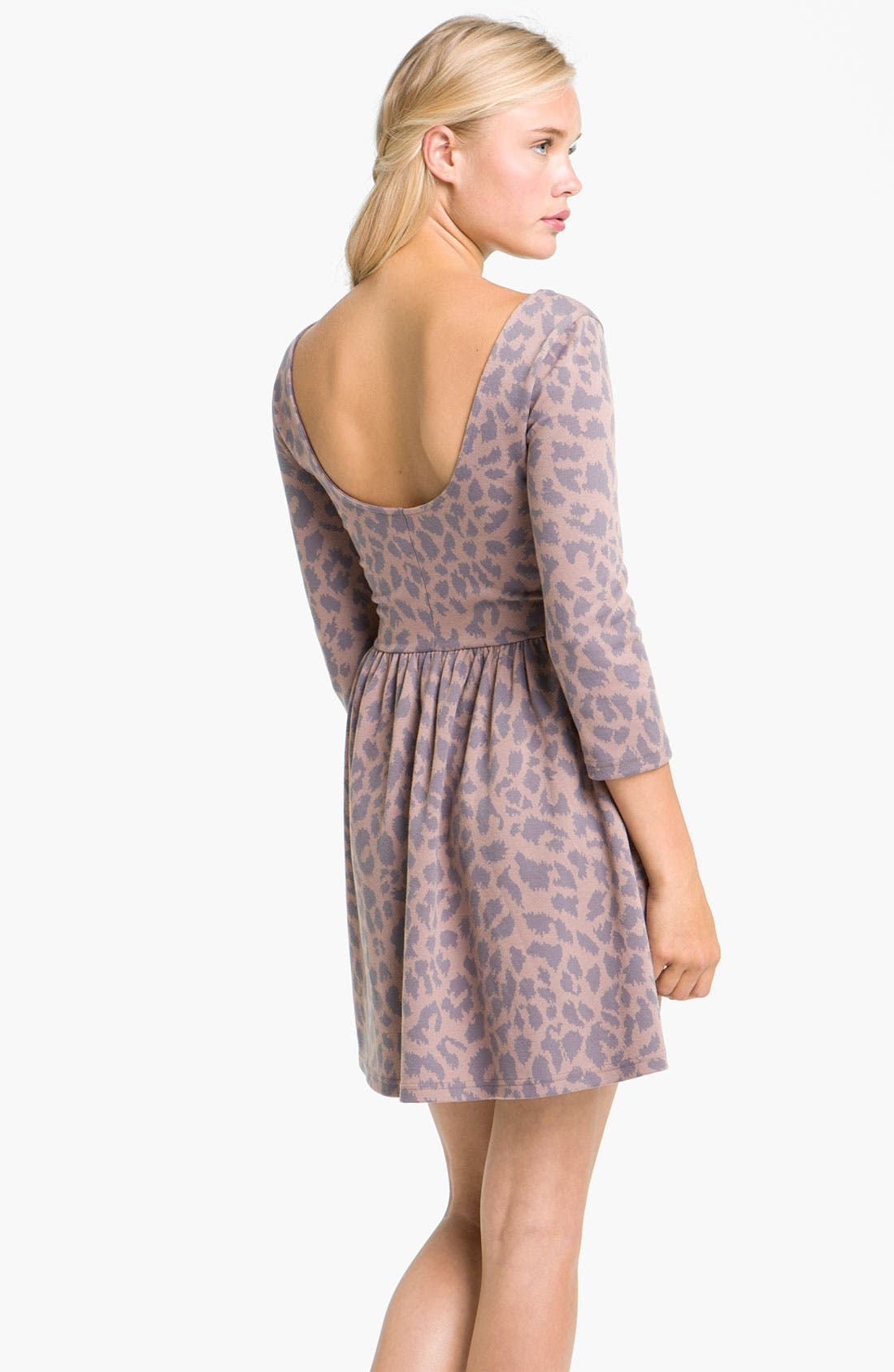 Alternate Image 2  - Frenchi® Leopard Print Knit Dress