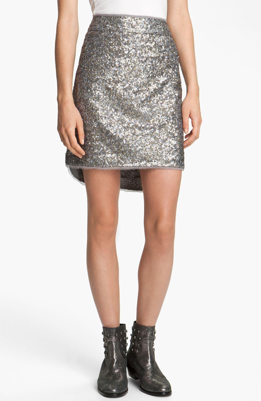 Main Image - Zadig & Voltaire 'Jasmina' Sequin Skirt