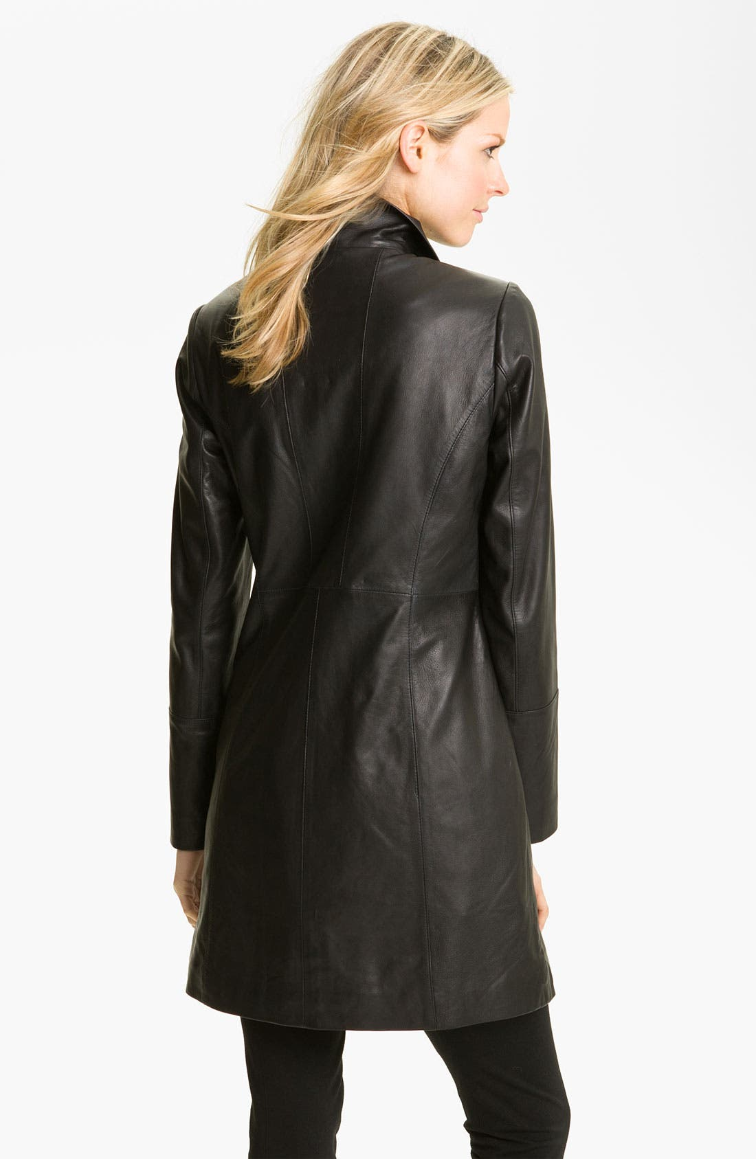 Alternate Image 2  - Cole Haan Leather Walking Coat with Liner