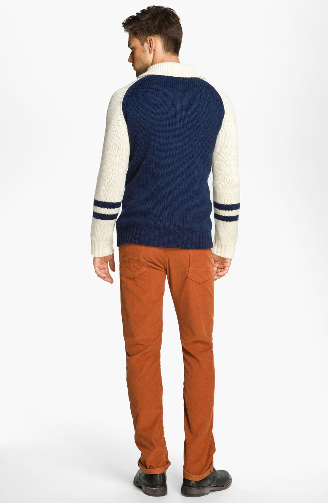 Alternate Image 5  - NSF Clothing Slim Straight Leg Corduroy Pants