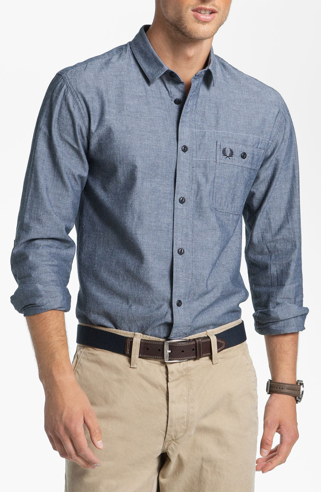 Alternate Image 1 Selected - Fred Perry Chambray Sport Shirt