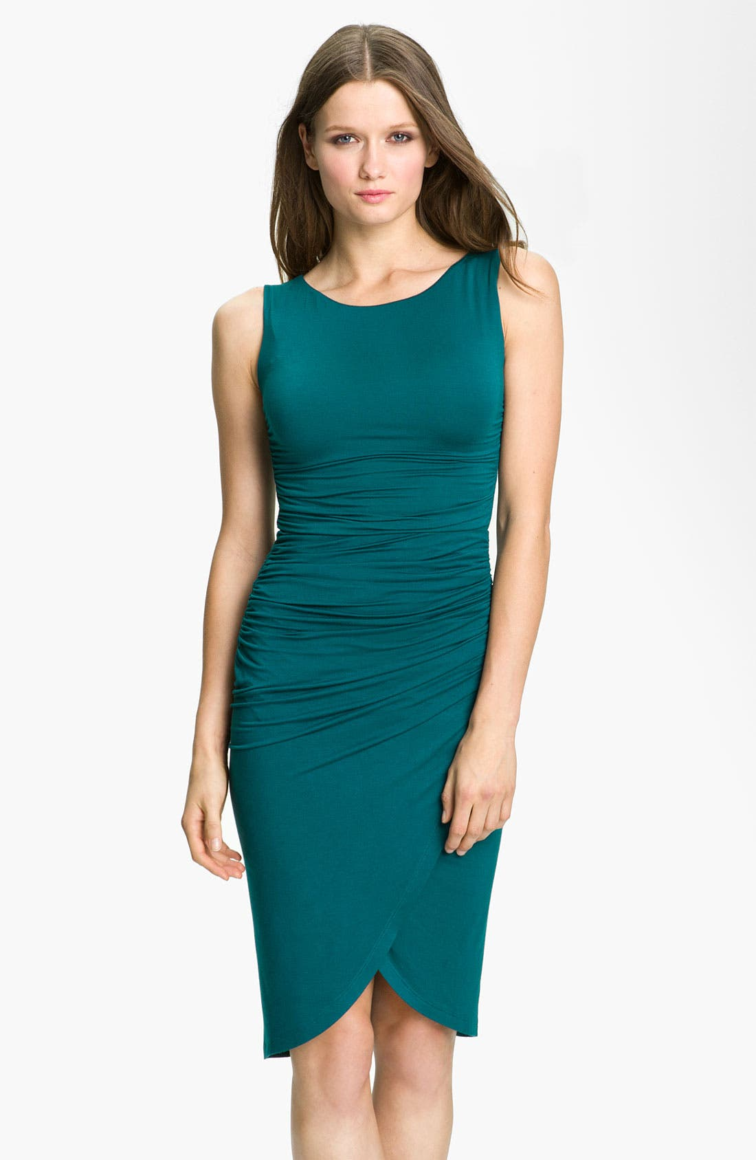 Main Image - Velvet by Graham & Spencer Ruched Jersey Sheath Dress