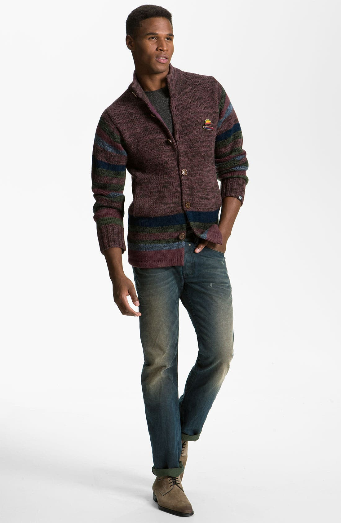 Alternate Image 5  - DIESEL® 'Safado' Slim Straight Leg Jeans (0804Z)
