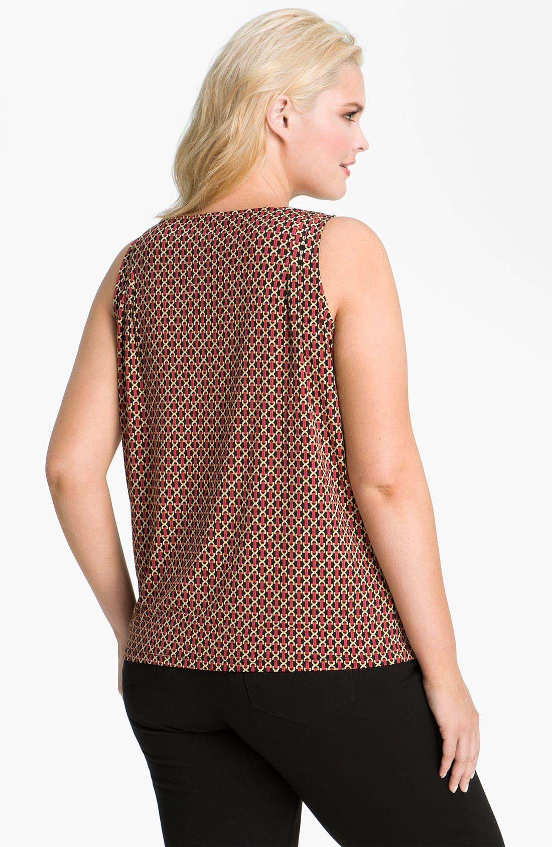 Alternate Image 2  - MICHAEL Michael Kors Print Drape Neck Top (Plus)