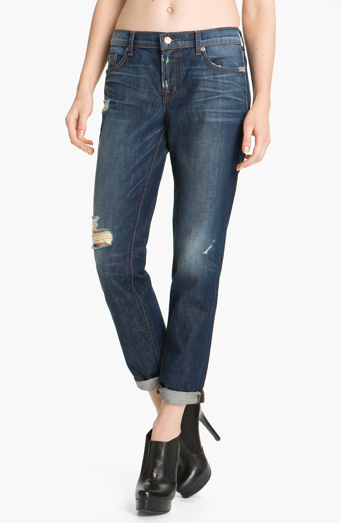 Alternate Image 1 Selected - J Brand 'Aidan' Distressed Boyfriend Fit Jeans (Ringer)