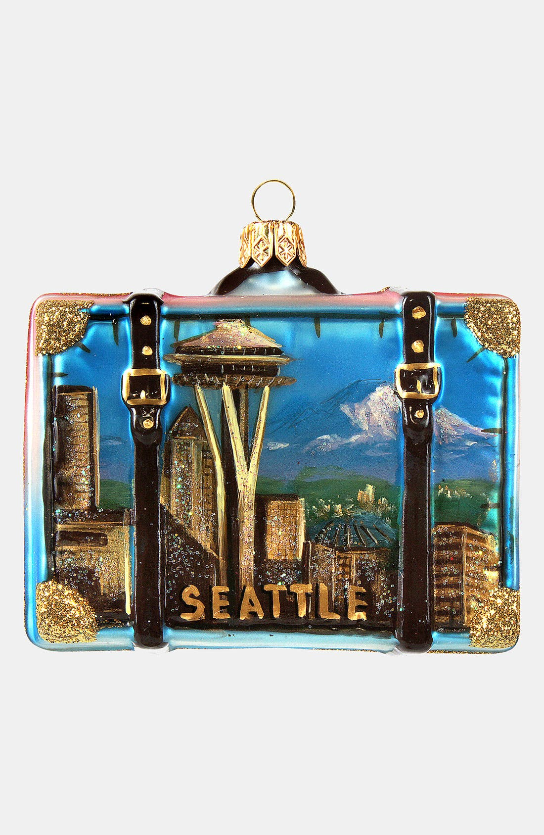 Alternate Image 1 Selected - Nordstrom at Home 'Seattle' Glass Suitcase Ornament
