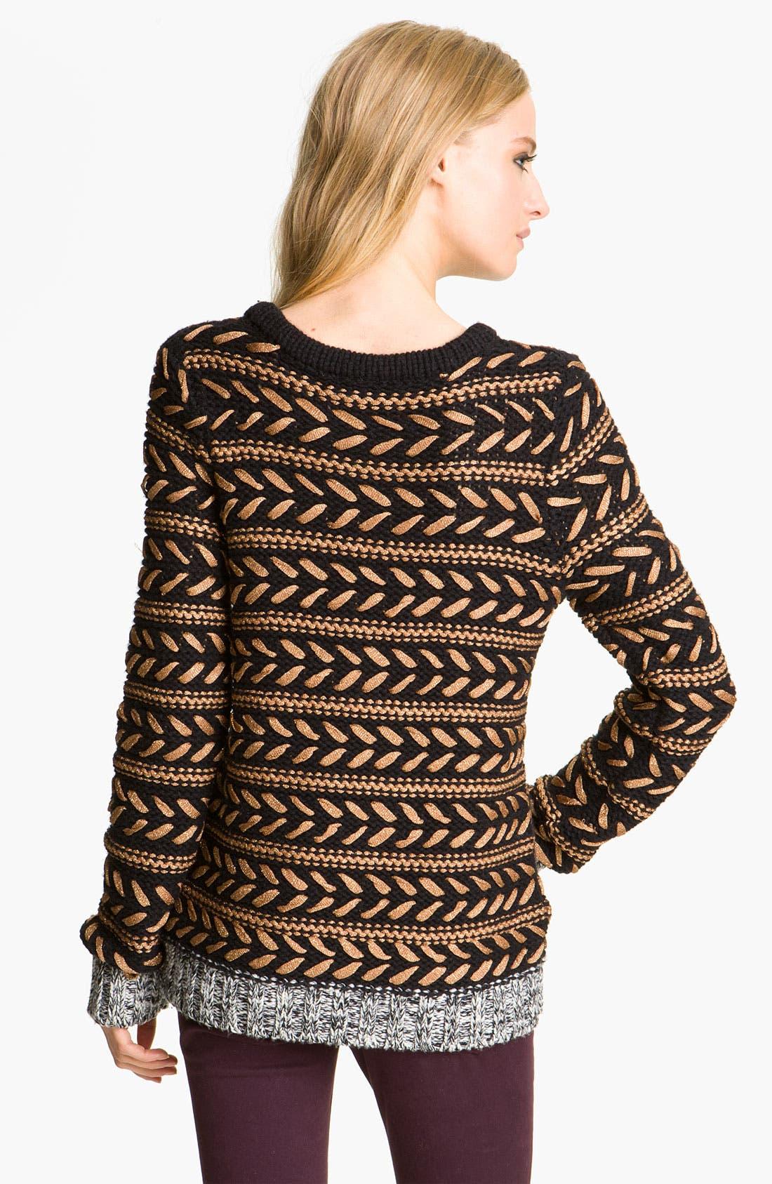 Alternate Image 2  - rag & bone 'Lisbeth' Contrast Crewneck Sweater