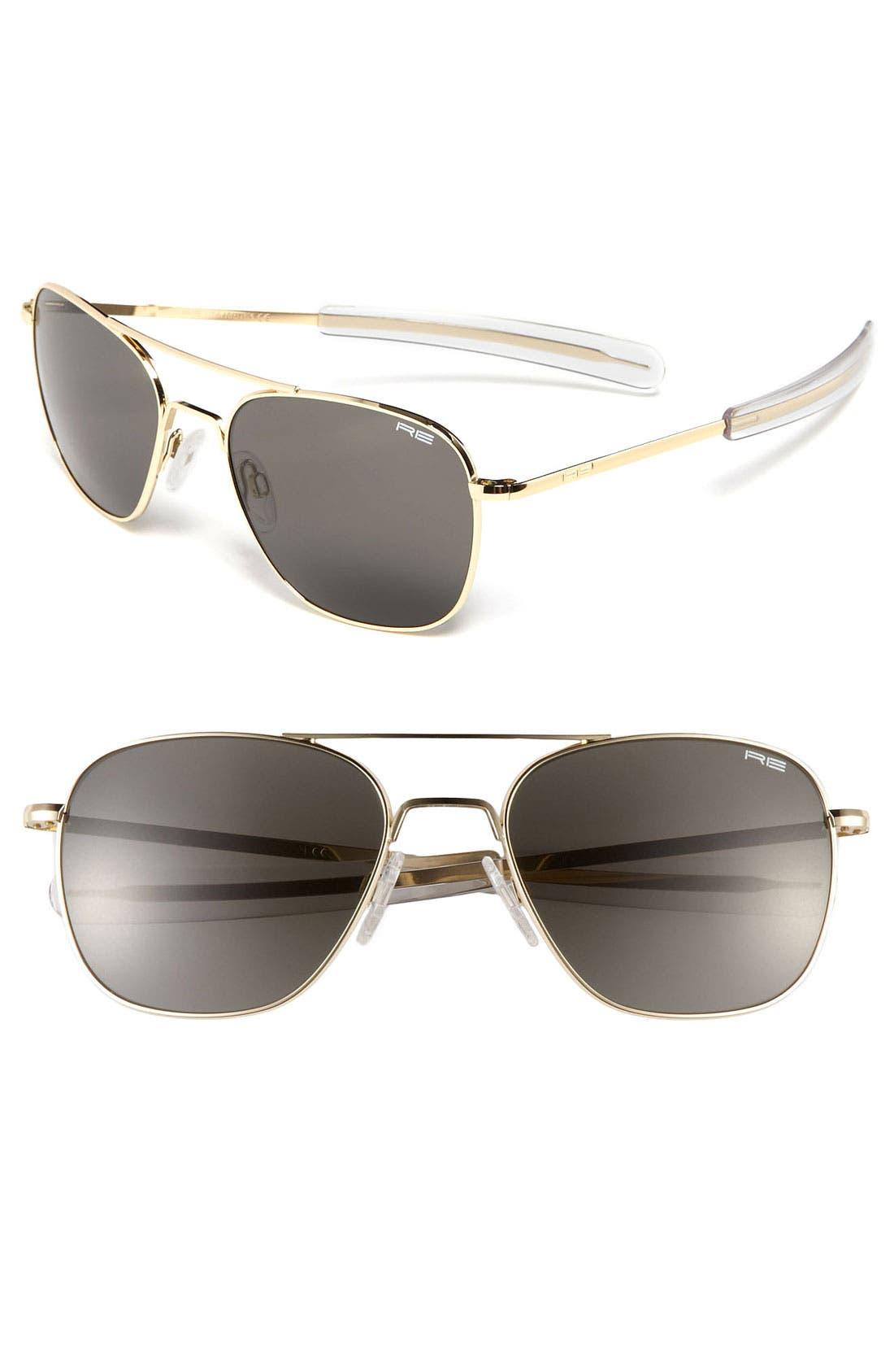 Alternate Image 1 Selected - Randolph Engineering 58mm Aviator Sunglasses