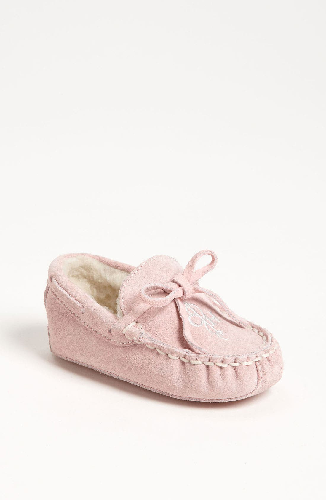 Main Image - Cole Haan 'Mini' Moccasin with Faux Shearling Lining (Baby)