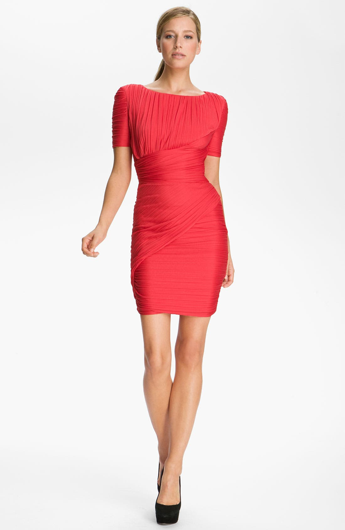 Main Image - Halston Heritage Pleated Jersey Dress
