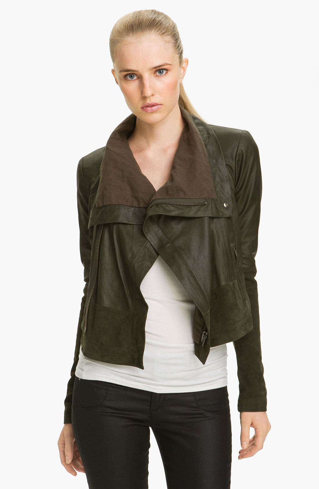 Alternate Image 1 Selected - Veda 'Max' Leather & Suede Jacket
