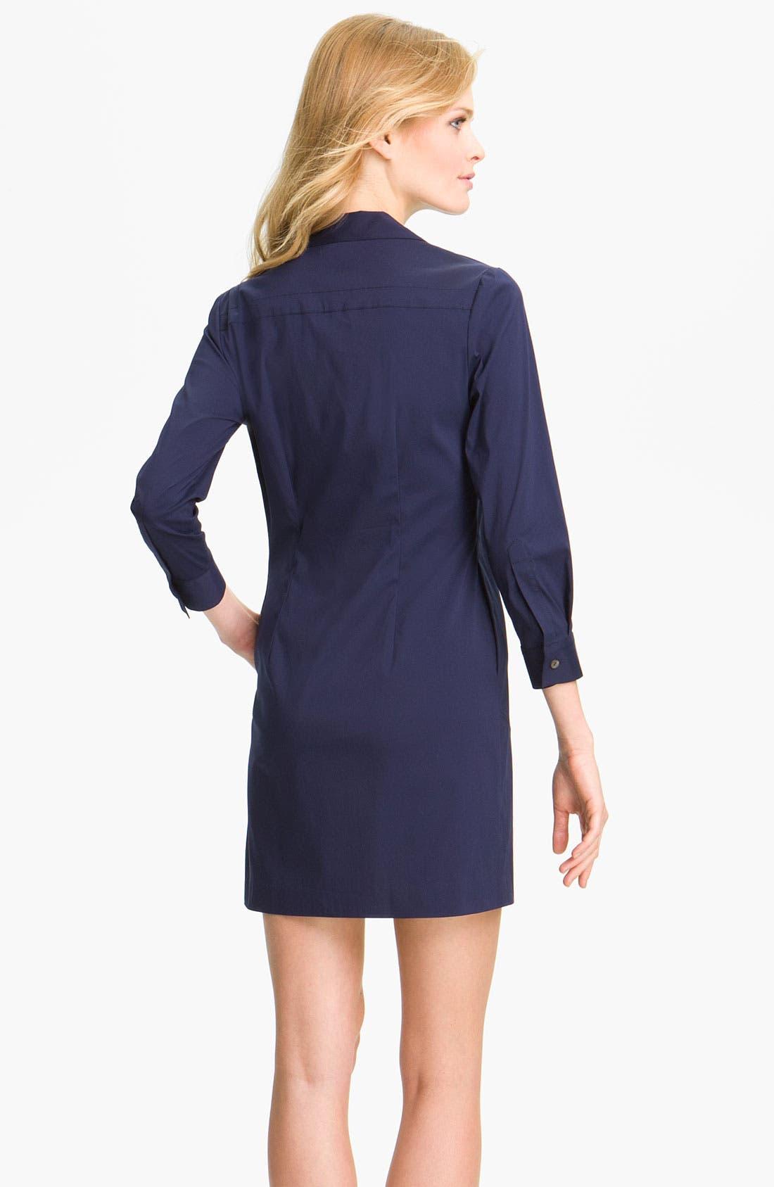 Alternate Image 2  - Theory 'Madlaina - Luxe' Shirtdress