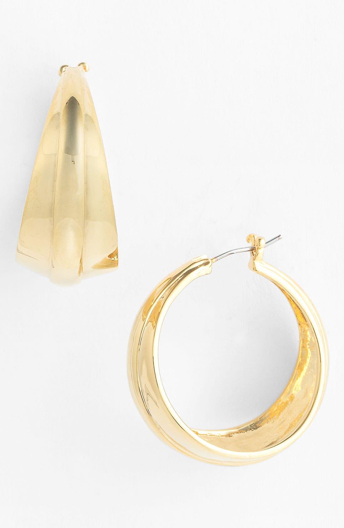 Alternate Image 1 Selected - Vince Camuto 'Basics' Tapered Hoop Earrings