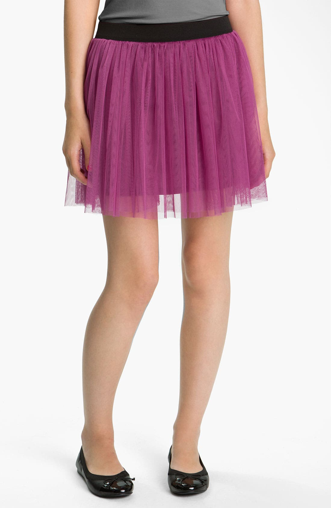 Main Image - Lily White Tulle Skirt (Juniors)