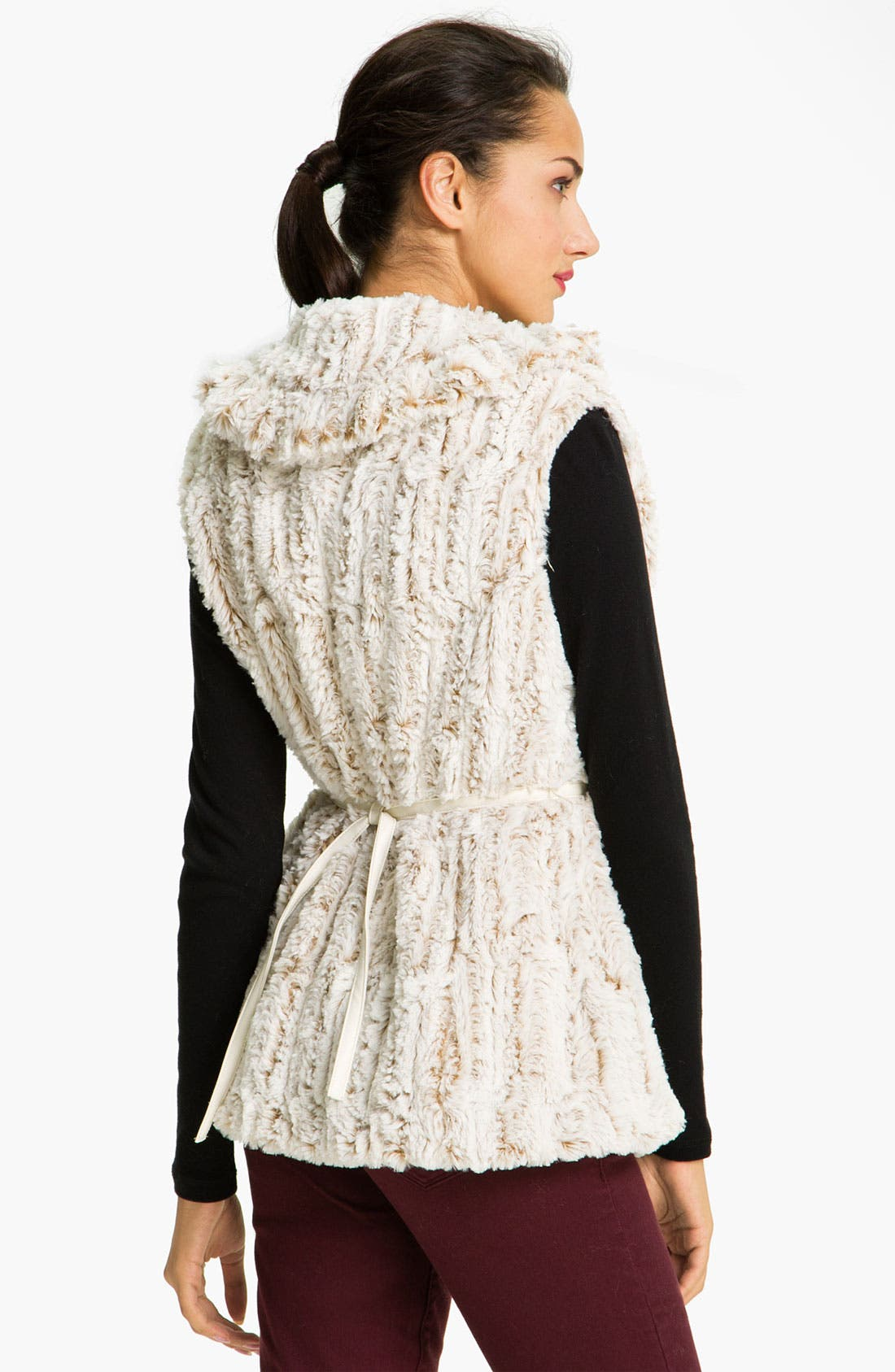 Alternate Image 2  - Damselle Faux Fur Ruffle Vest
