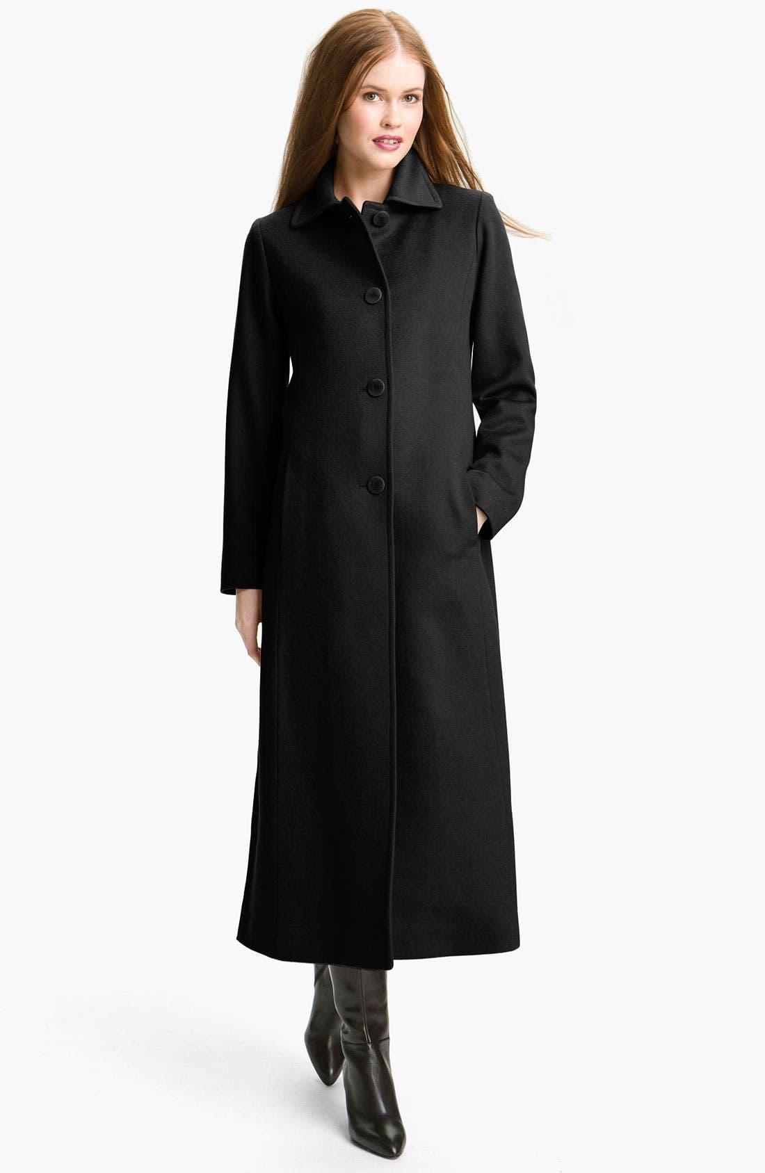 Alternate Image 1 Selected - Fleurette Single Breasted Cashmere Coat