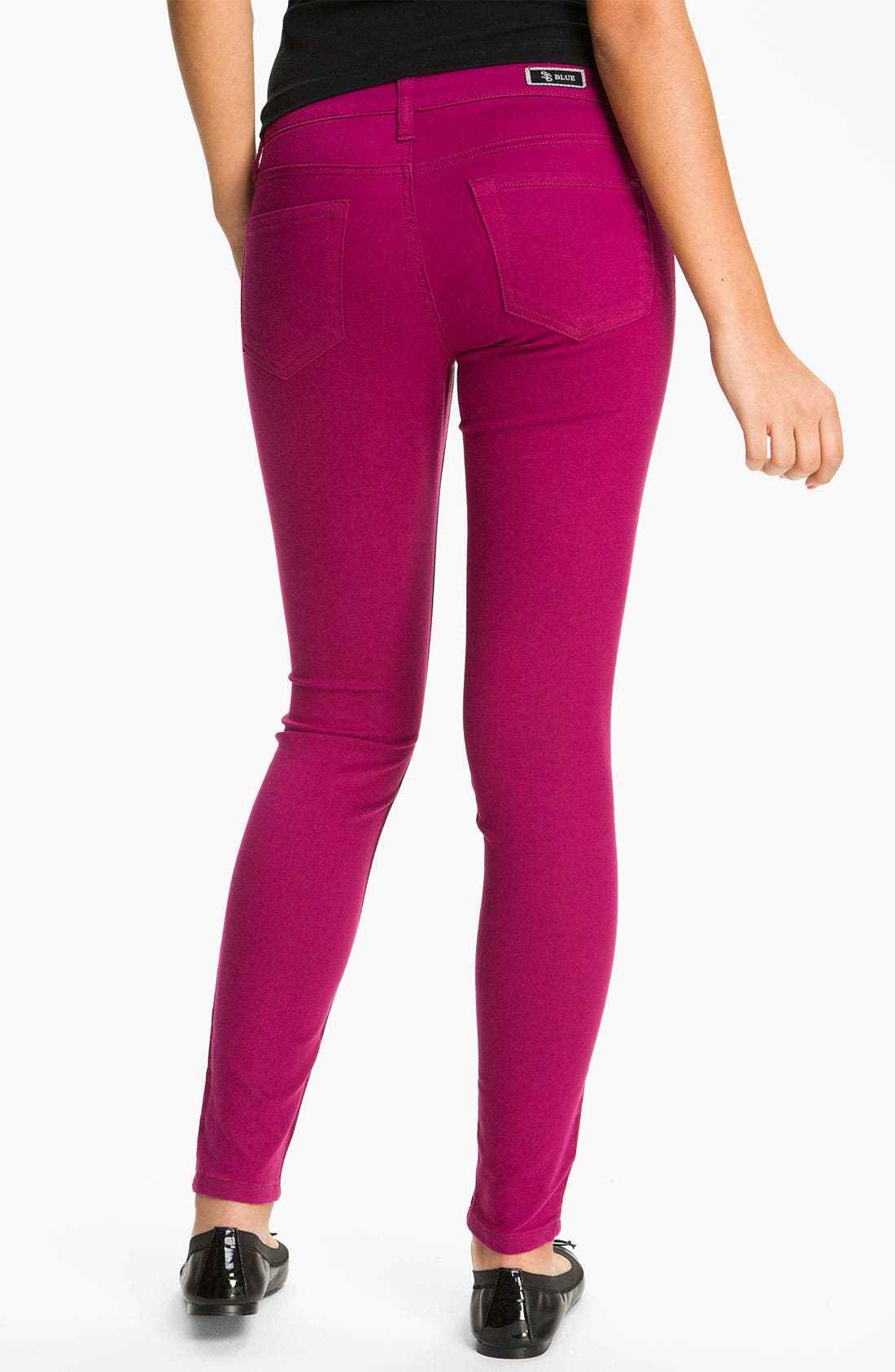 Main Image - See Thru Soul 'Fame' Color Denim Skinny Jeans (Juniors)