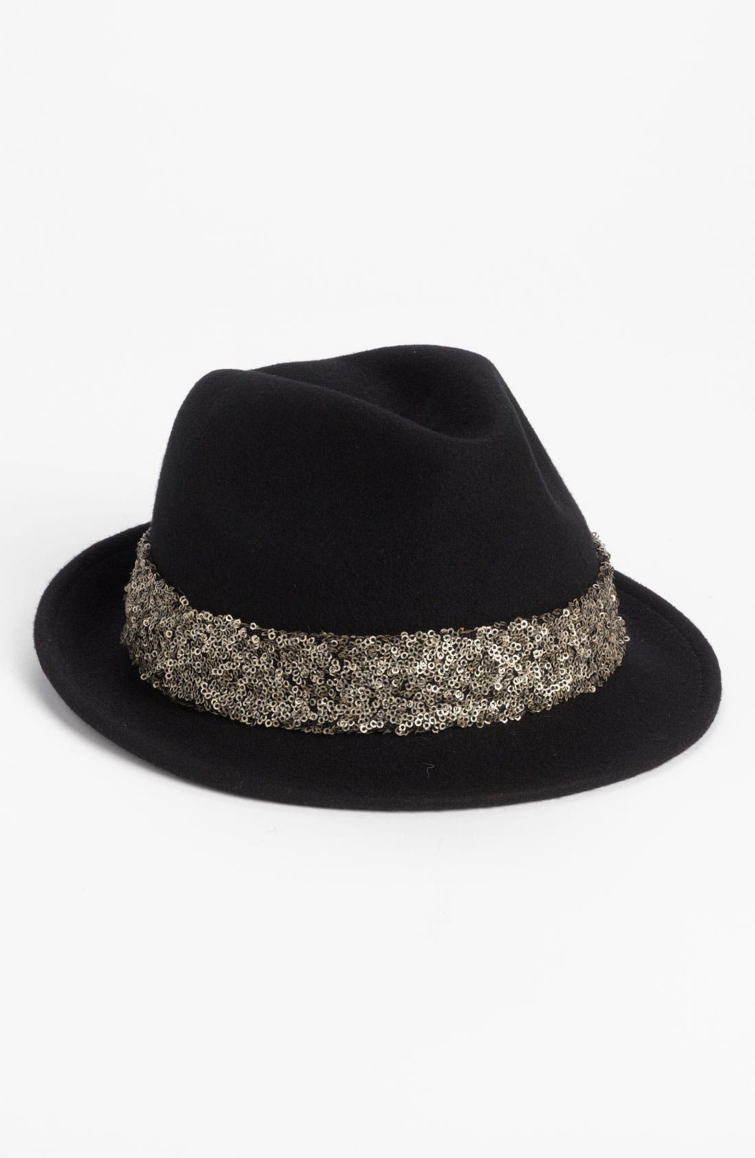 Main Image - Halogen® Sequin Trim Fedora