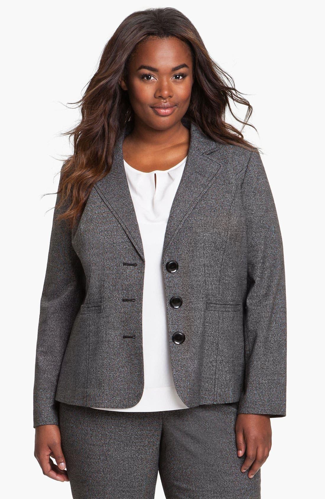Alternate Image 1 Selected - Sejour Herringbone Suit Jacket (Plus)