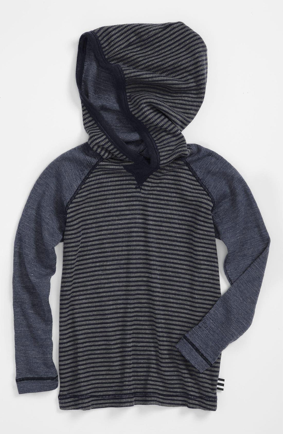 Main Image - Splendid 'Mini Stripe' Thermal Hooded Top (Toddler)