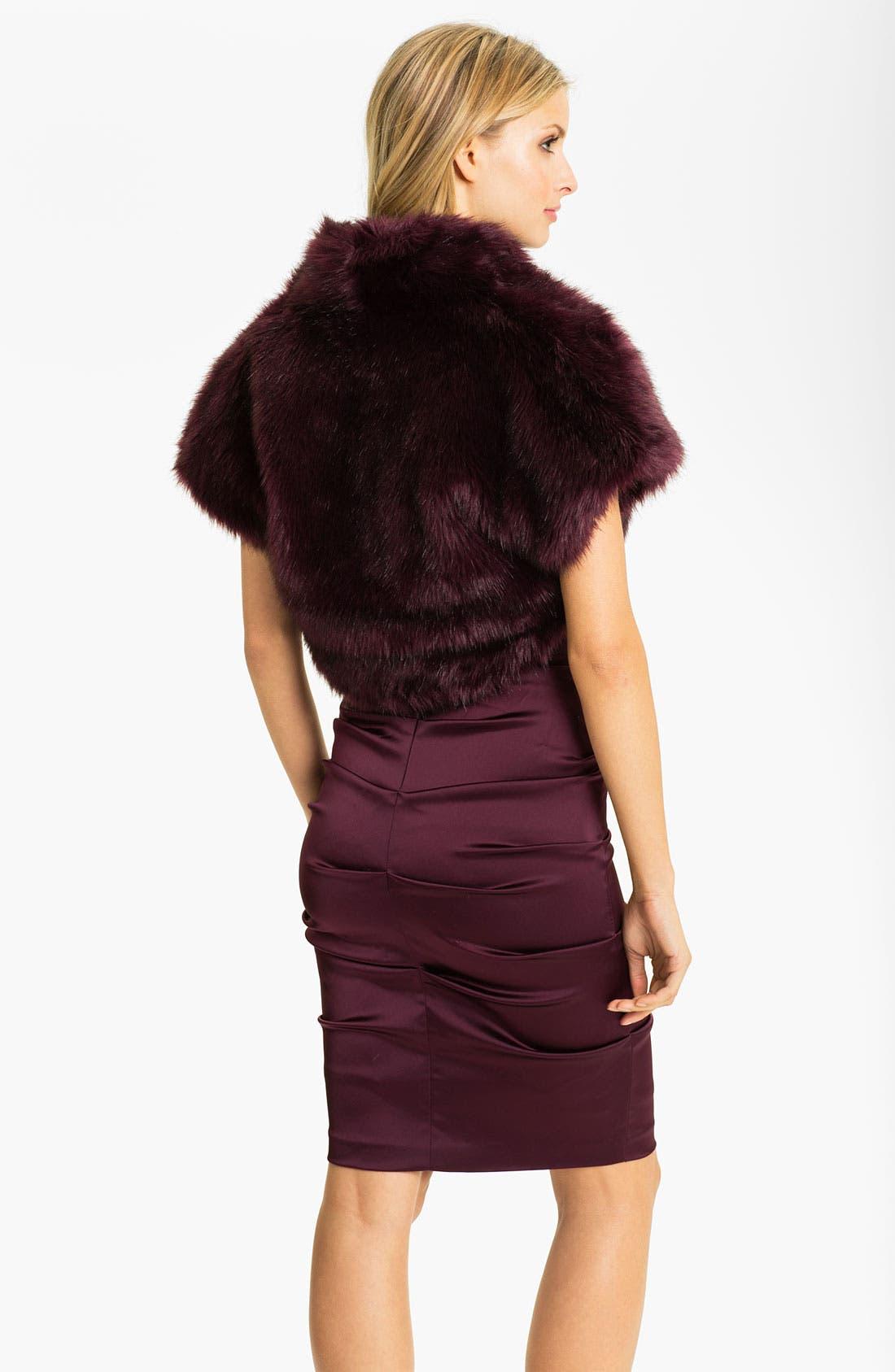 Alternate Image 2  - Eliza J Faux Fur Open Bolero