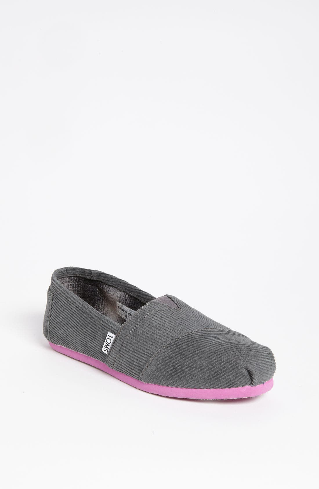 Alternate Image 1 Selected - TOMS 'Classic - Color Pop' Corduroy Slip-On (Women)
