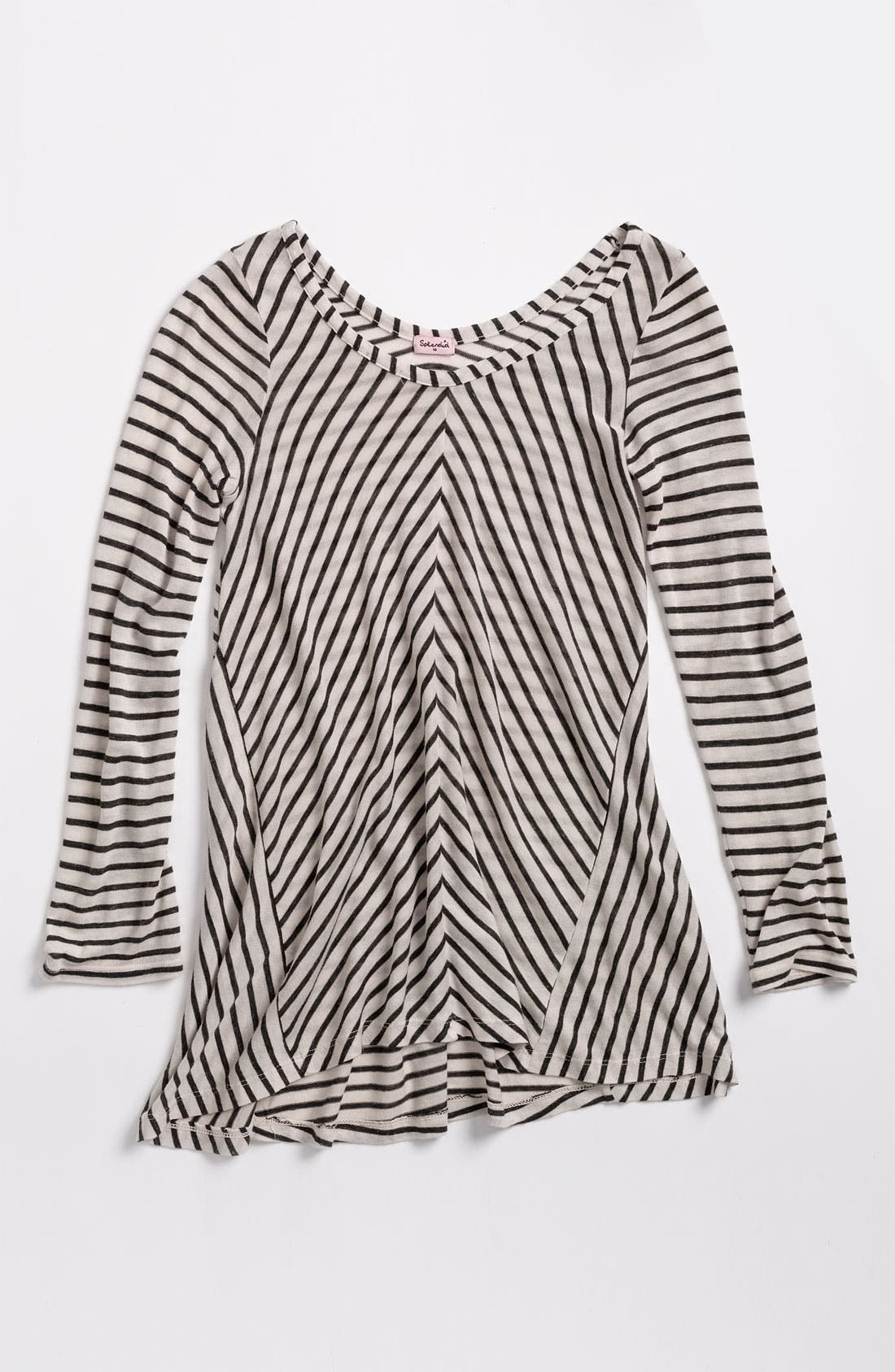 Alternate Image 1 Selected - Splendid Stripe Tunic (Big Girls)