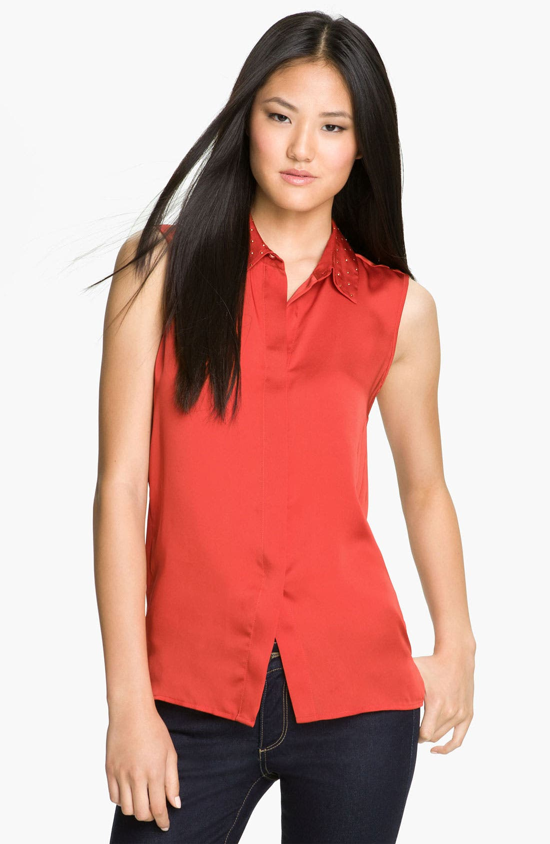 Alternate Image 1 Selected - Vince Camuto Stud Collar Blouse