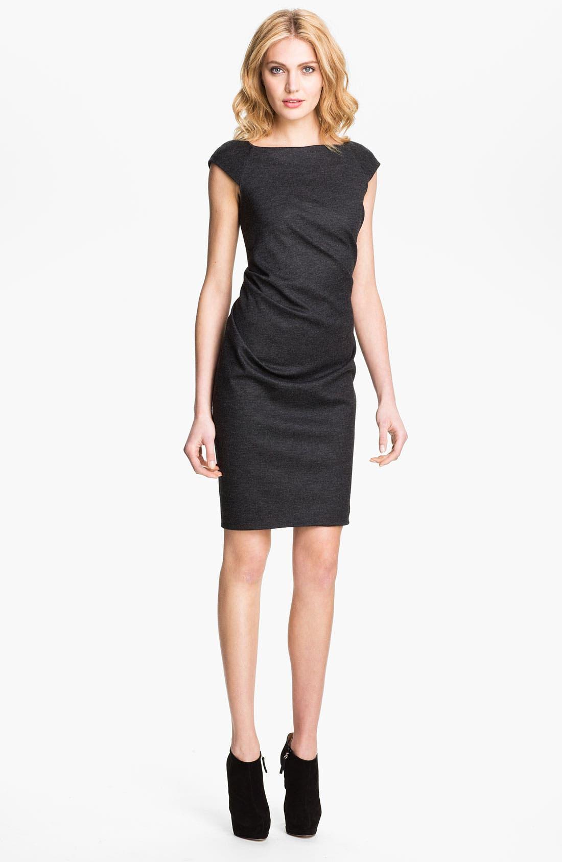 Alternate Image 1 Selected - Diane von Furstenberg Stretch Wool Jersey Shift Dress