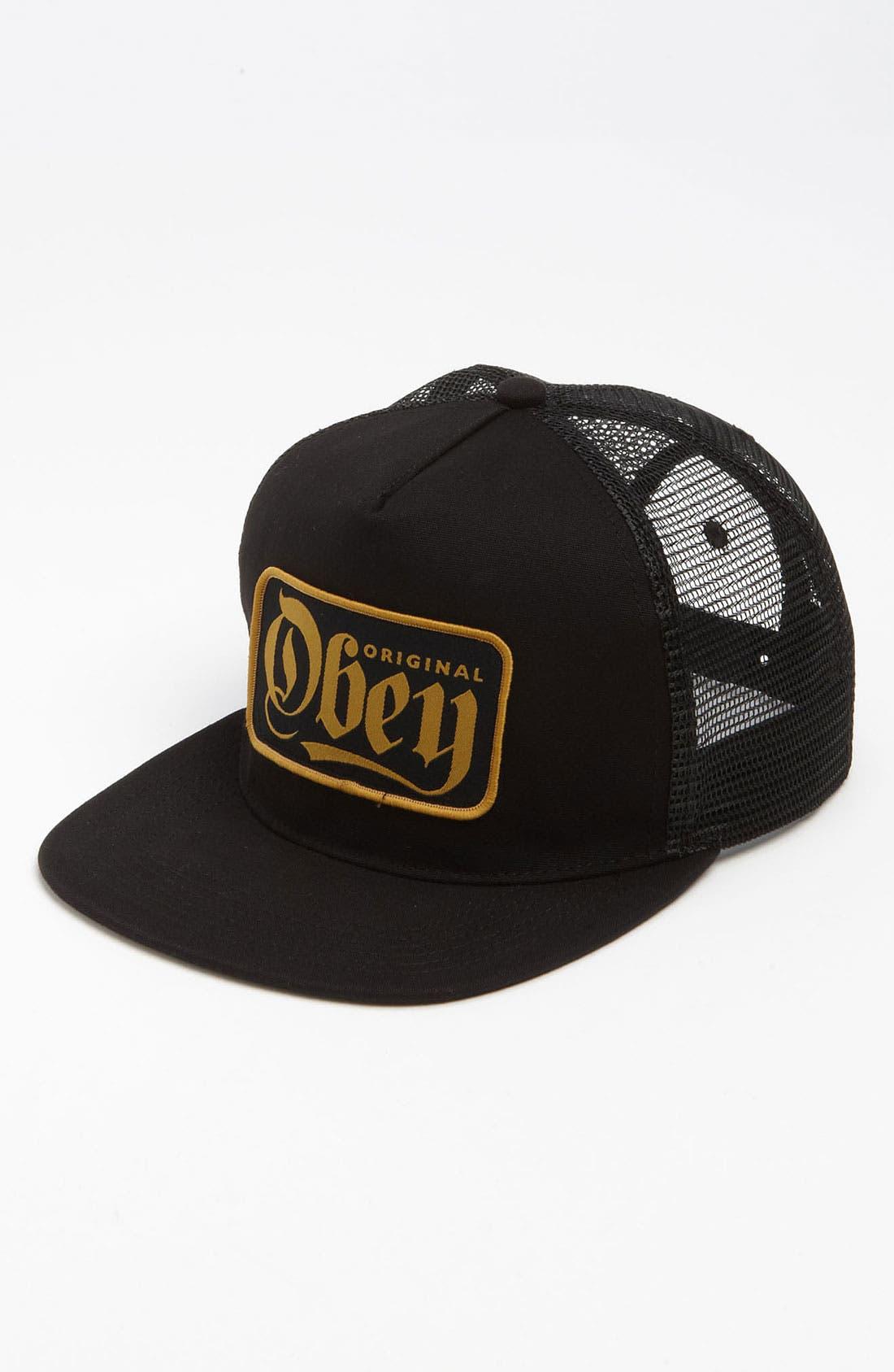 'Stout' Snapback Trucker Hat,                         Main,                         color, Black