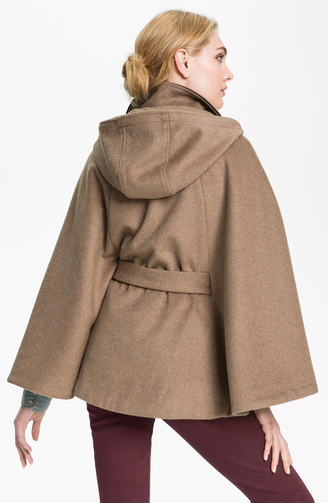 Alternate Image 2  - Calvin Klein Hooded Toggle Cape
