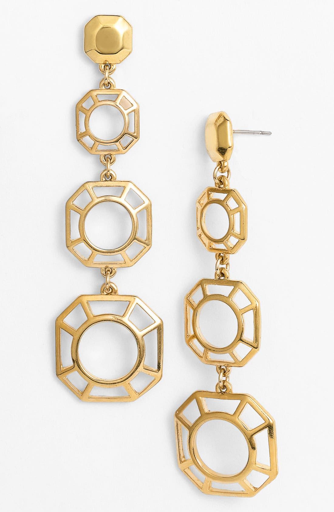 Main Image - Tory Burch 'Audrina' Linear Earrings
