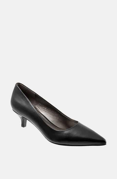 Women's Black Kitten Heel Pumps   Nordstrom