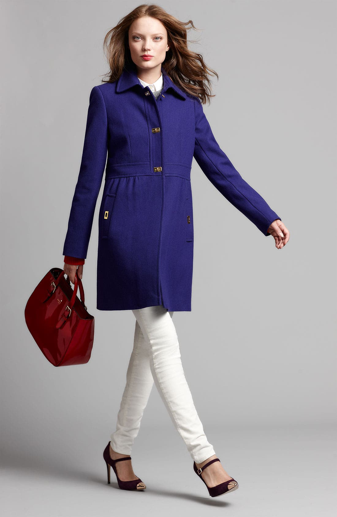 Alternate Image 2  - DKNY Turnkey Coat & KUT from the Kloth Corduroy Pants
