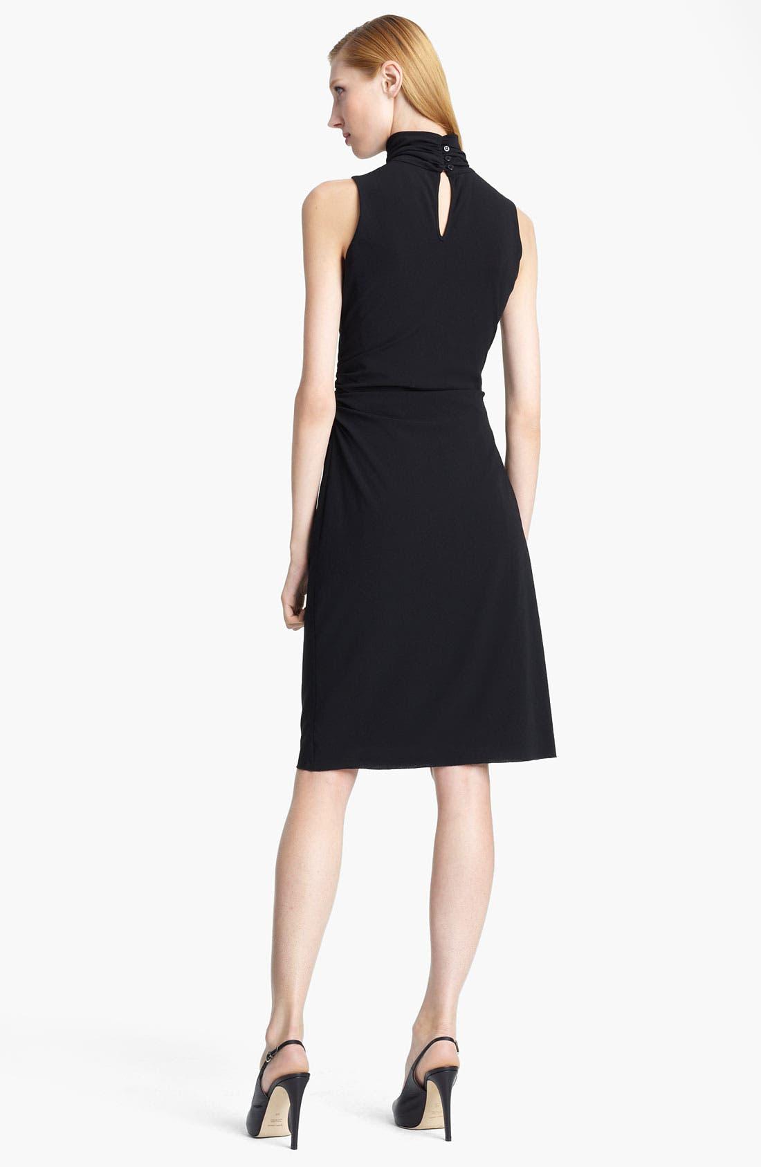 Alternate Image 2  - Armani Collezioni Mock Neck Crepe Dress