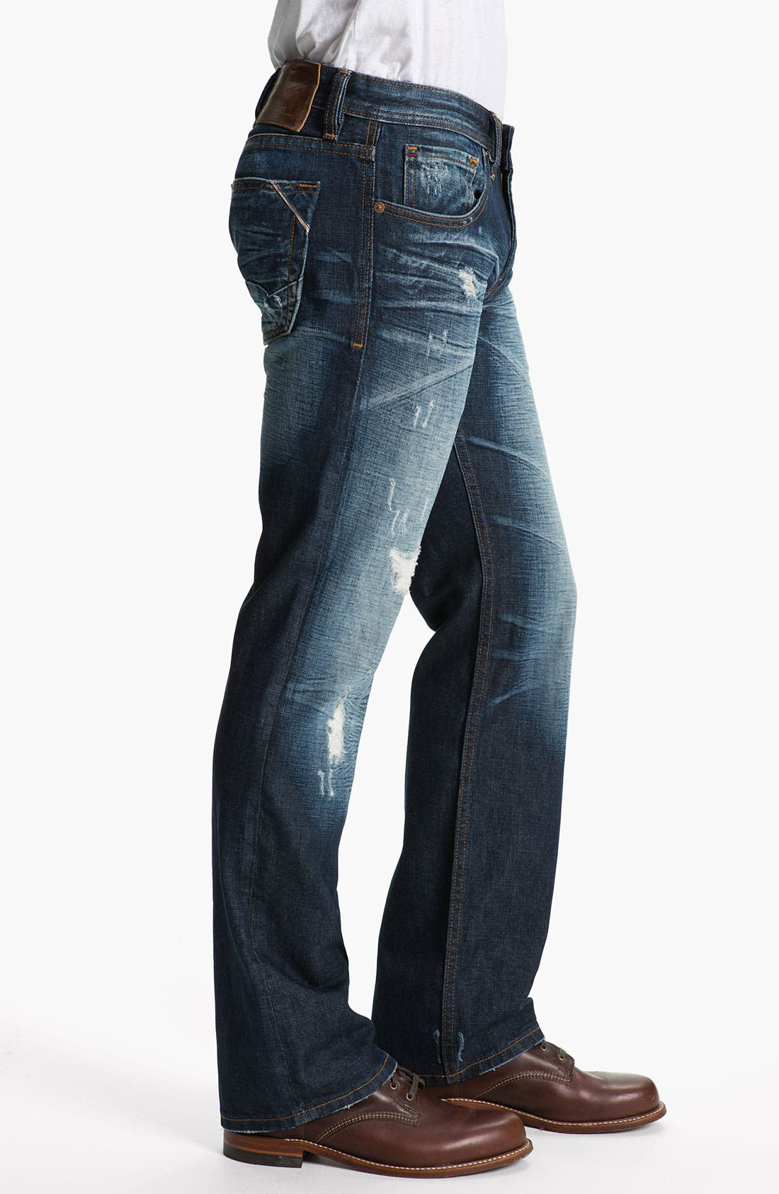 Alternate Image 3  - Cult of Individuality 'Harley' Relaxed Straight Leg Jeans (Dark Blue)