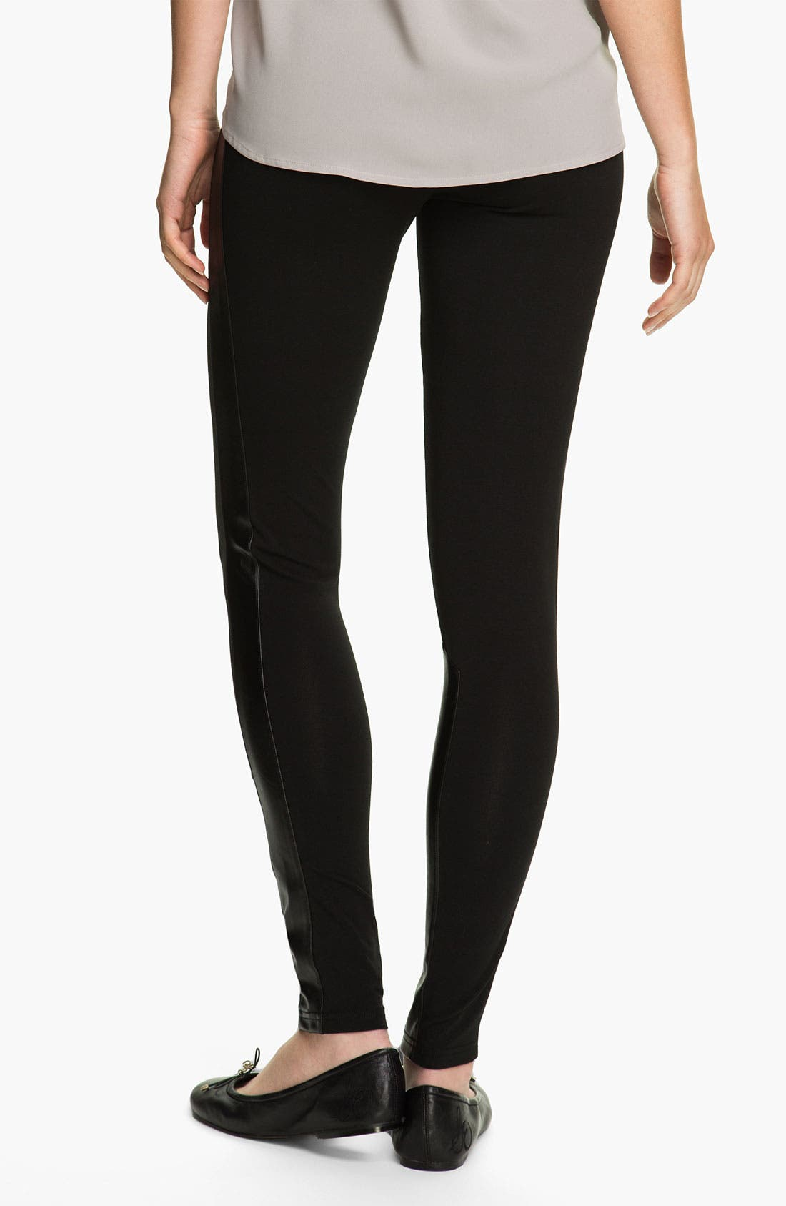 Alternate Image 3  - Rubbish® Faux Leather Panel Leggings (Juniors)
