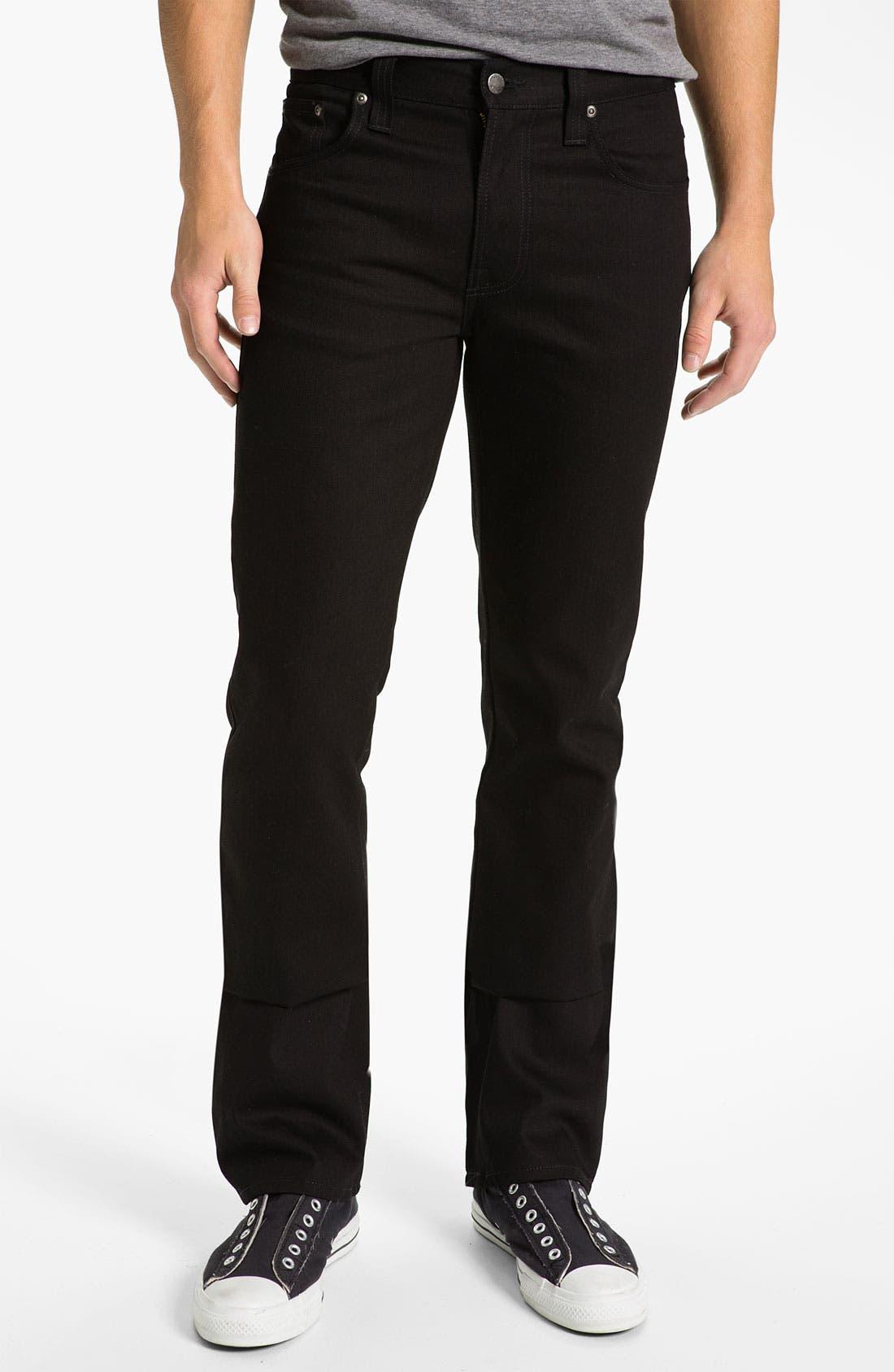 Alternate Image 2  - Nudie Jeans 'Slim Jim' Slim Fit Jeans (Organic Dry Black)