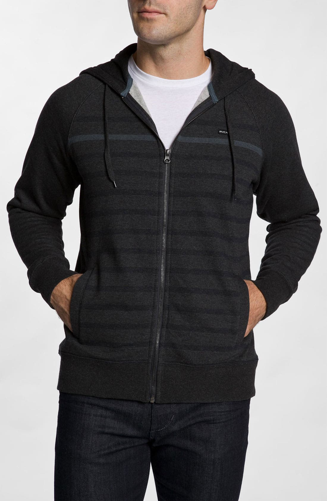 Alternate Image 1 Selected - RVCA 'Steady' Zip Front Hoodie
