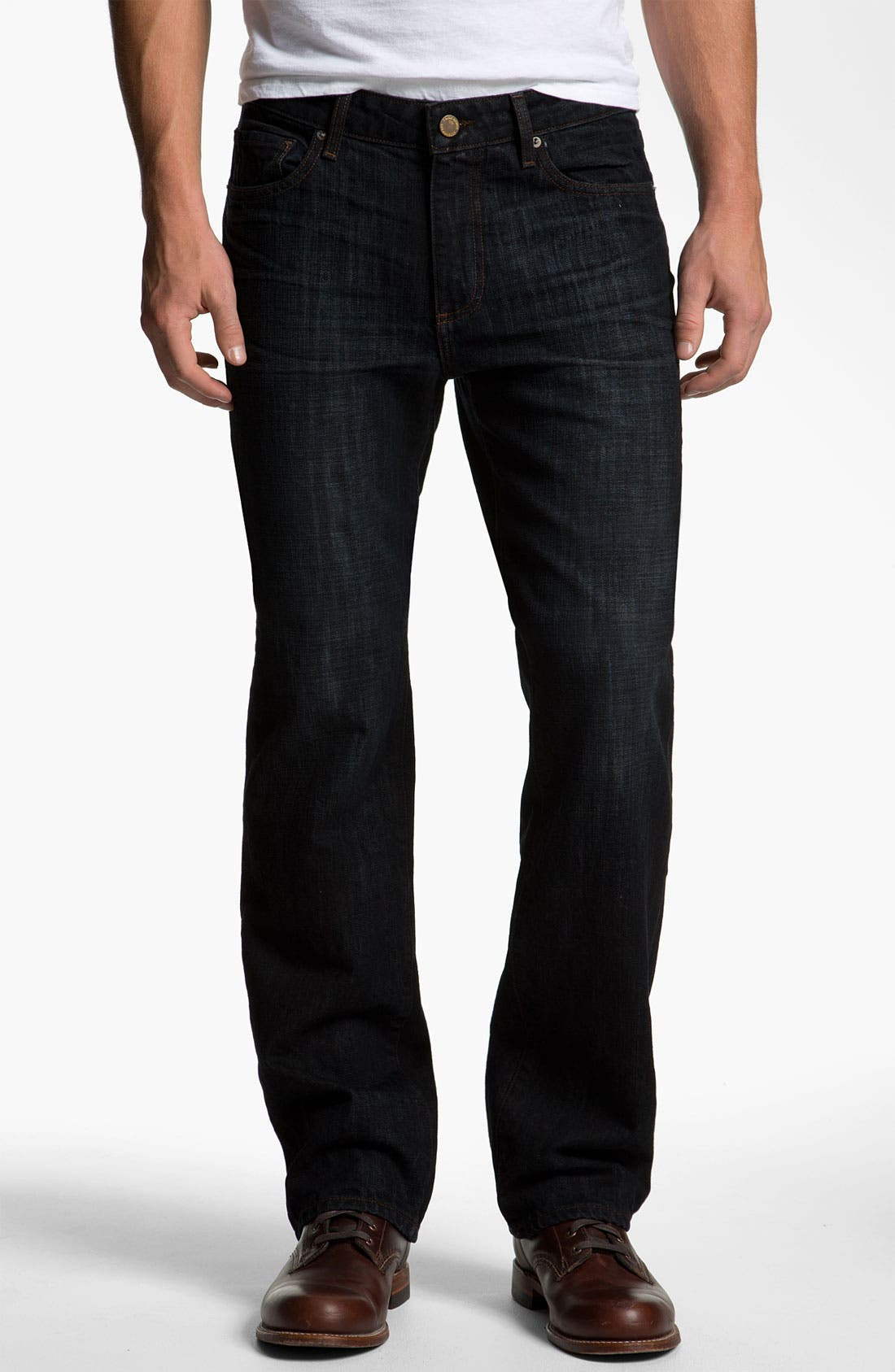 Alternate Image 2  - PAIGE 'Doheny' Straight Leg Jeans (Alpha)