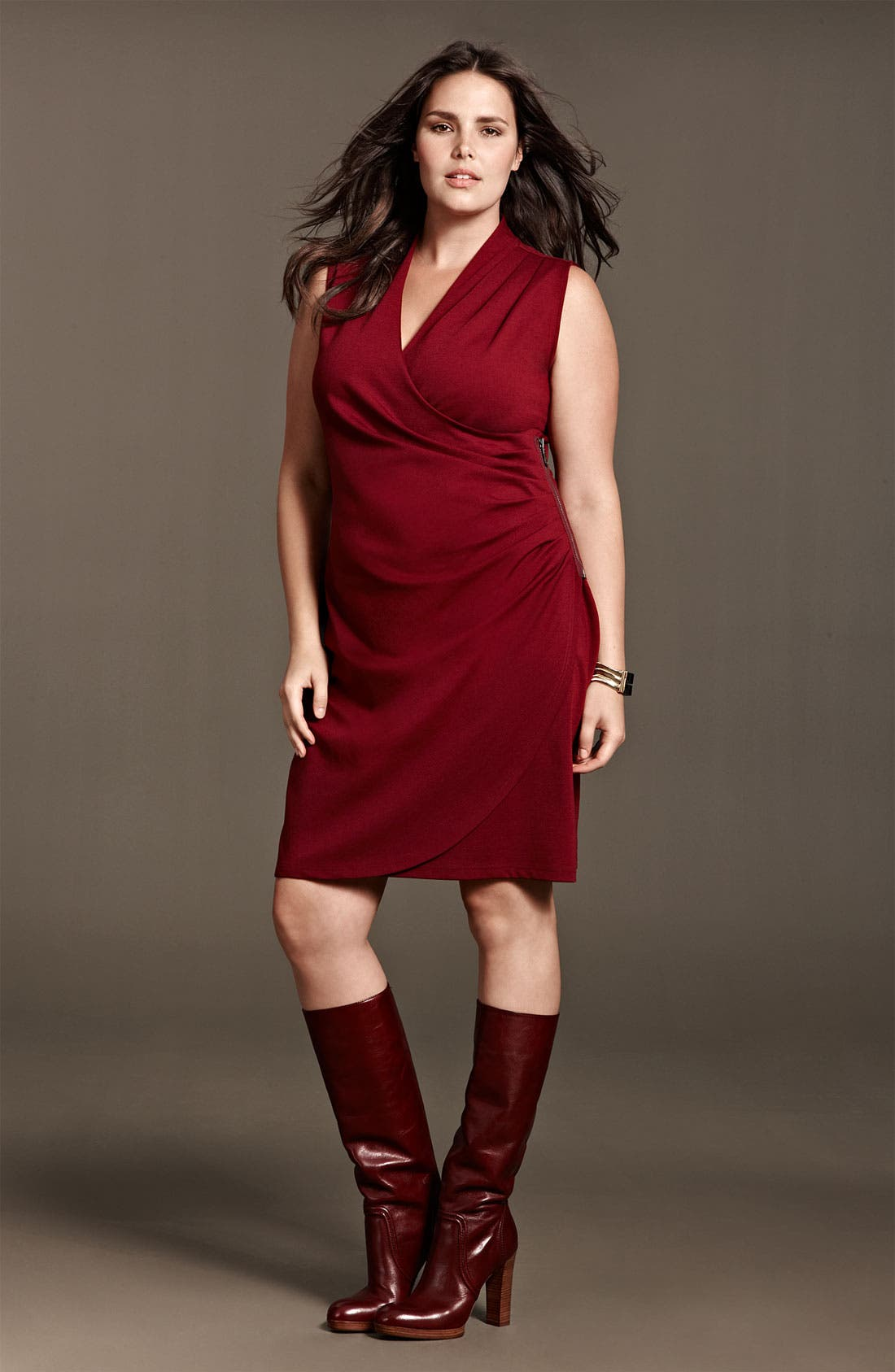Alternate Image 3  - Kenneth Cole New York 'Lindsey' Sleeveless Ponte Knit Sheath Dress (Plus)