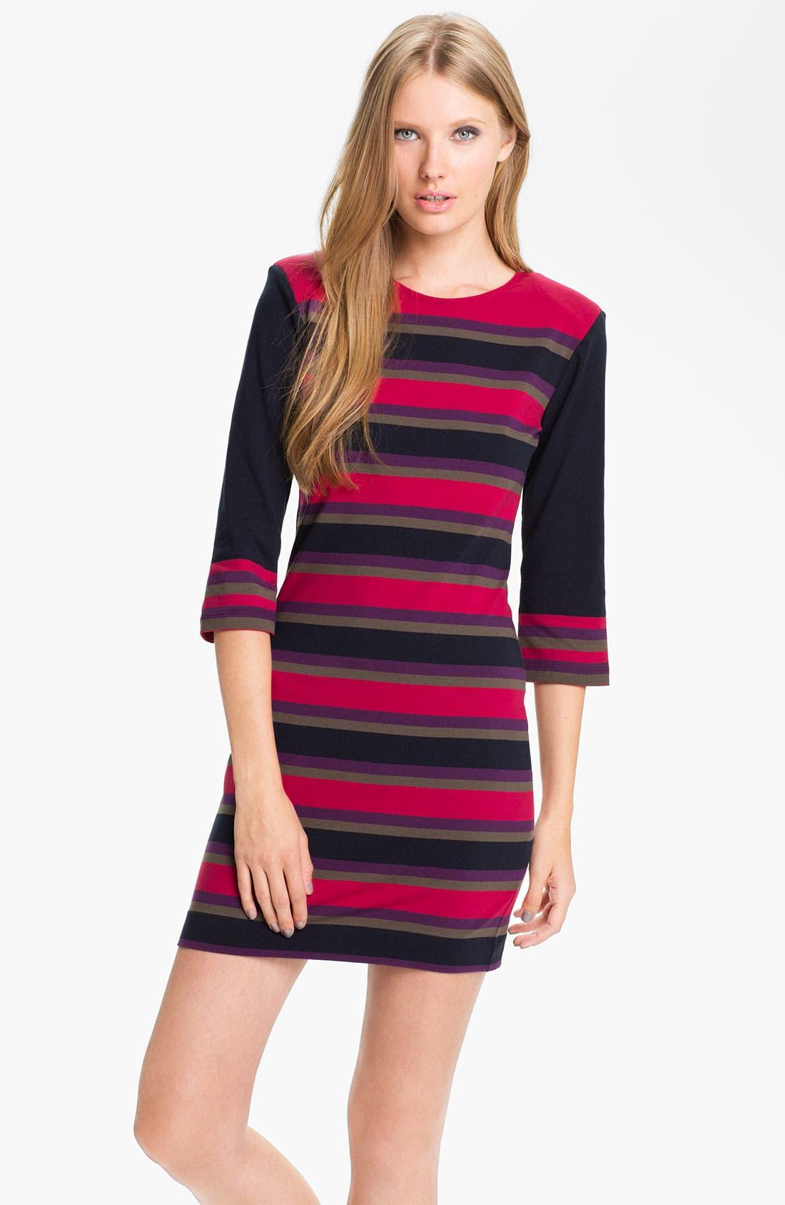 Main Image - French Connection 'Koni' Stripe Knit Sheath Dress