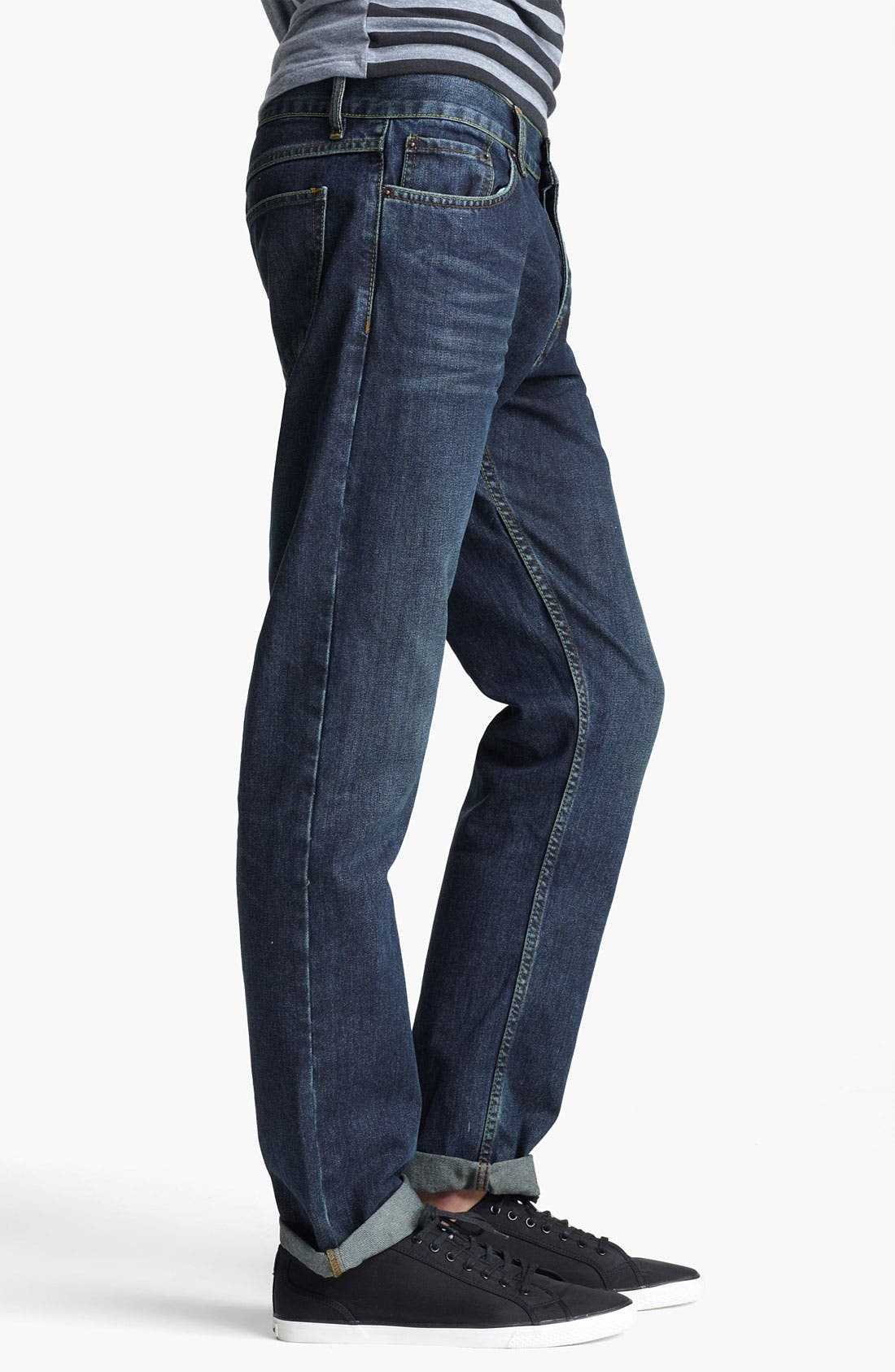 Alternate Image 3  - Topman 'Luther' Slim Fit Jeans (Indigo)