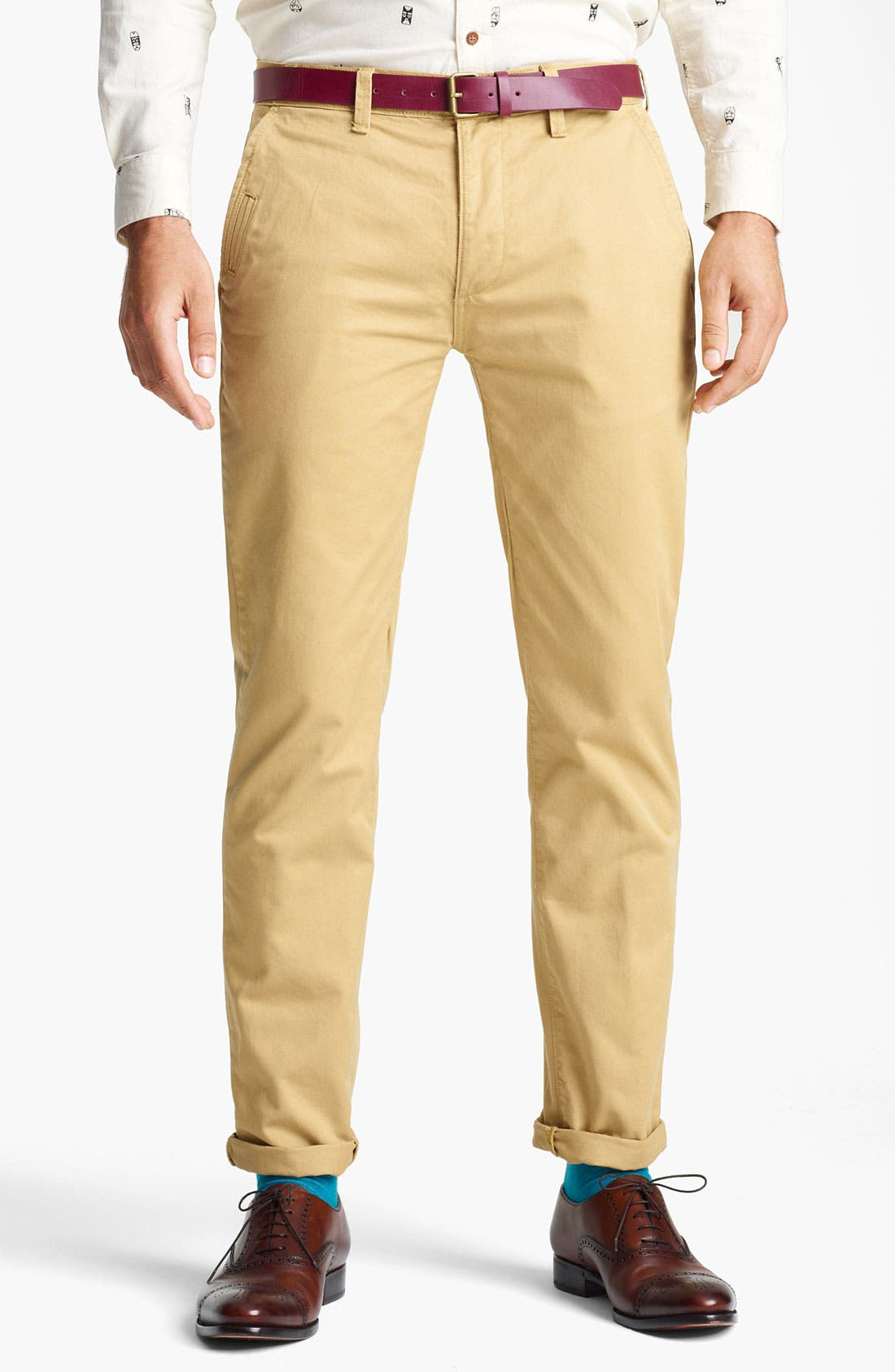 Alternate Image 1 Selected - Topman 'Davies' Skinny Chinos